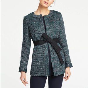 Belted Tweed Jacket Ann Taylor (XS)